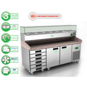 GPZ3600DR600 Pizza Prep Table